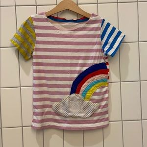 "🌈 Rainbow ""Mini Boden"" knockoff, size 4"